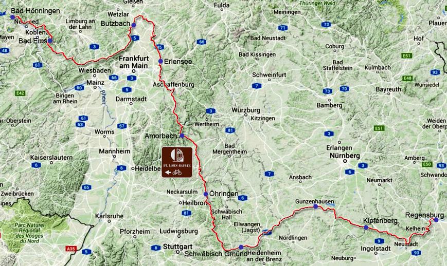 Limes Radweg Hessen