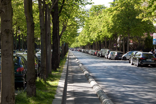 Radweg in Paris