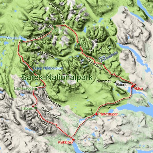 Skandinavien Karte Pdf.Wandern Im Sarek Nationalpark Einfuhrung In Den Sarek